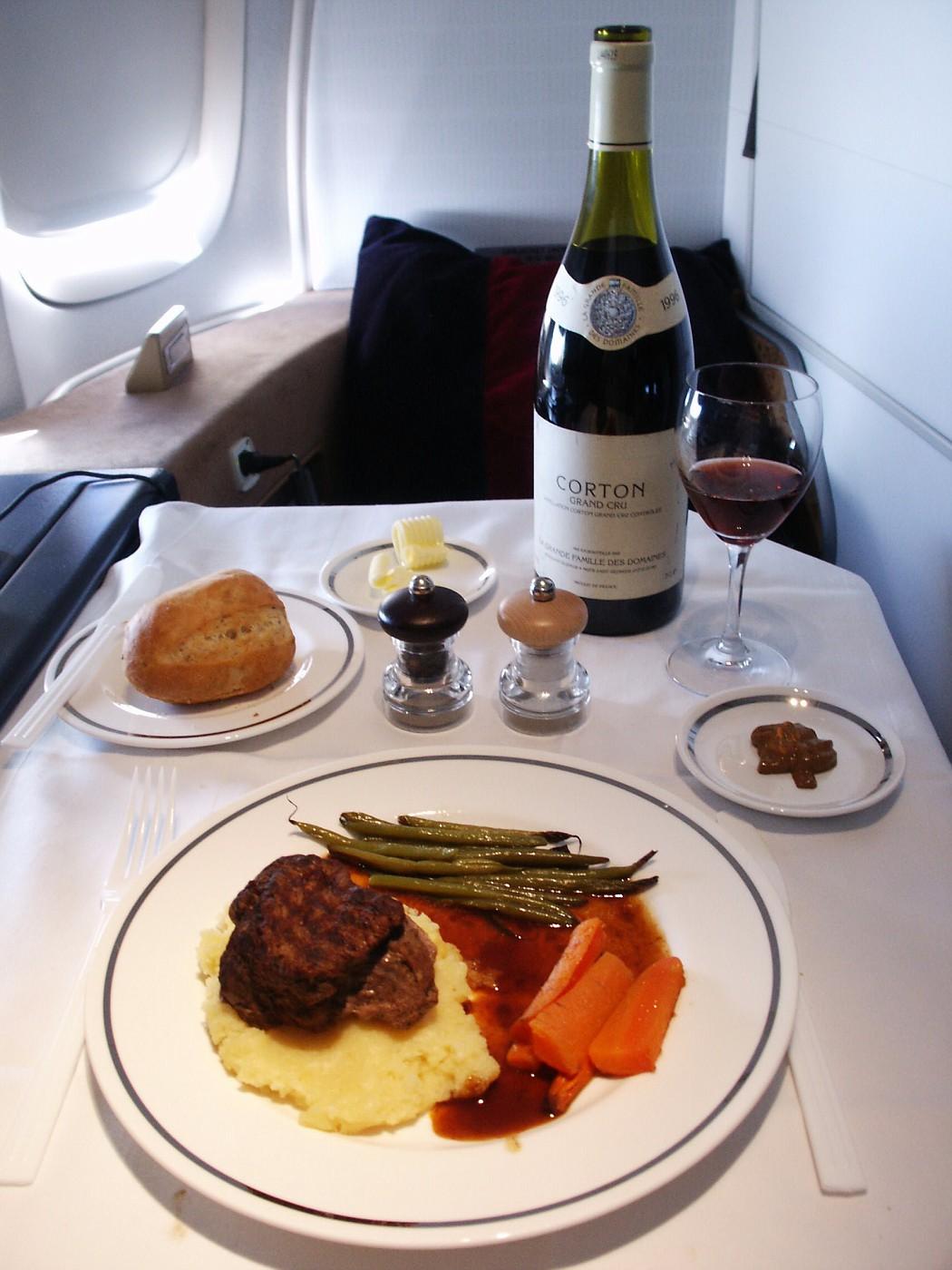 BRITISH AIRWAYS First Class Luncheon Entree Overview LHR-LAX
