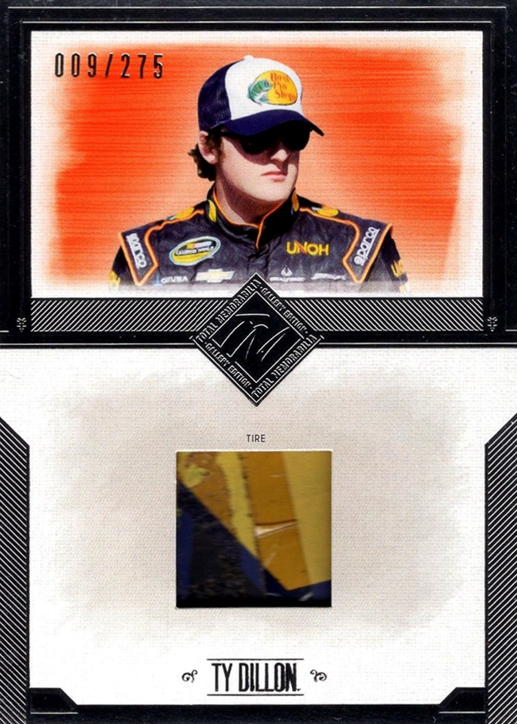2014 Total Memorabilia Single Relic Ty Dillon (1)