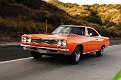 01 1968 Plymouth Road Runner front three quarter view tracking