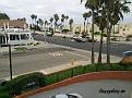 Balkongutsikten från vårt rum på Best Western Huntington Beach Inn.