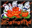 3 Ghosts & pumpkinSamantha