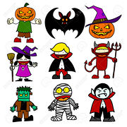 Halloween character  cartoon.
