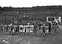 Shift change at the Y-12 plant in Oak Ridge - Appox. 22,000 workers in Spring of 1945