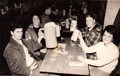 """William """"Bill"""" Spencer and E. Ray Austin, with friends in Germany 1966"""