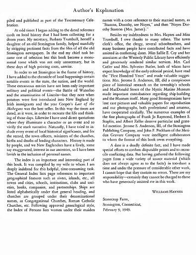 STONINGTON CHRONOLOGY - PAGE 008