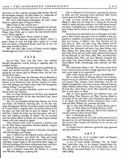 STONINGTON CHRONOLOGY - PAGE 023