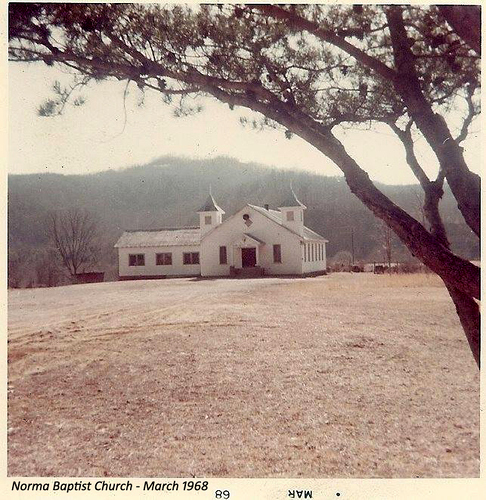 Norma Baptist Church, 1968, from Facebook