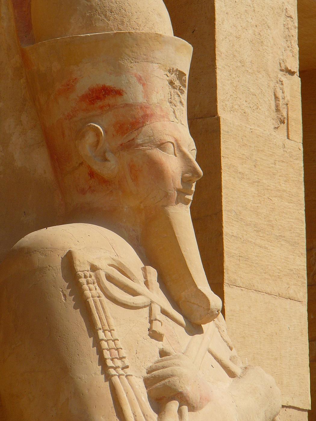 Statues of Hatshepsut with Fake Beard of Pharo