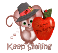 Keep Smiling - ThanksgivingMouse