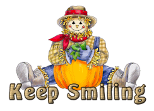 Keep Smiling - AutumnScarecrowSitting