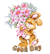 Good Day - BunnyWithFlowers