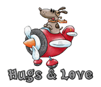 Hugs & Love - DogFlyingPlane