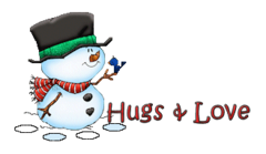 Hugs & Love - Snowman&Bird