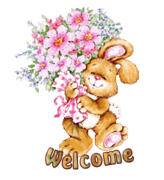 Welcome - BunnyWithFlowers