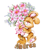 Andrea - BunnyWithFlowers