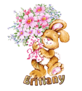 Brittany - BunnyWithFlowers