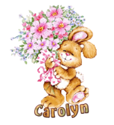 Carolyn - BunnyWithFlowers