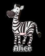 Alice - DancingZebra