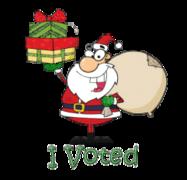 I Voted - SantaDeliveringGifts