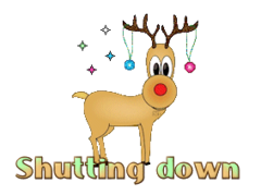 Shutting down - ChristmasReindeer
