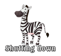 Shutting down - DancingZebra