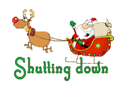 Shutting down - SantaSleigh
