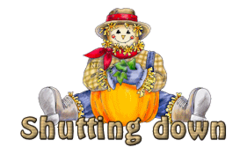 Shutting down - AutumnScarecrowSitting