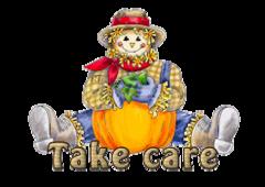 Take care - AutumnScarecrowSitting