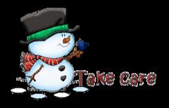 Take care - Snowman&Bird