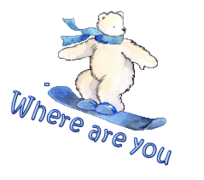 Where are you - SnowboardingPolarBear
