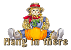 Hang in there - AutumnScarecrowSitting