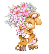 Call Me - BunnyWithFlowers