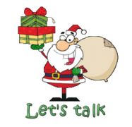 Let's talk - SantaDeliveringGifts