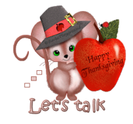 Let's talk - ThanksgivingMouse