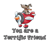 You are a Terrific Friend - DogFlyingPlane