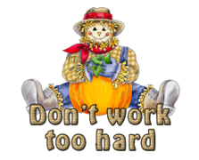 Don't work too hard - AutumnScarecrowSitting