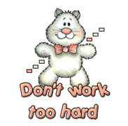 Don't work too hard - HuggingKitten NL16
