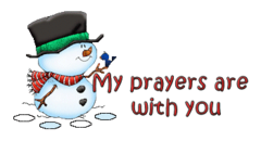 My prayers are with you - Snowman&Bird