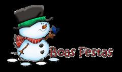 Boas Festas - Snowman&Bird