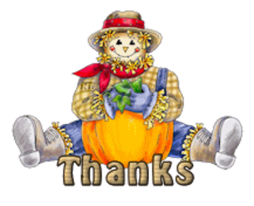 Thanks - AutumnScarecrowSitting