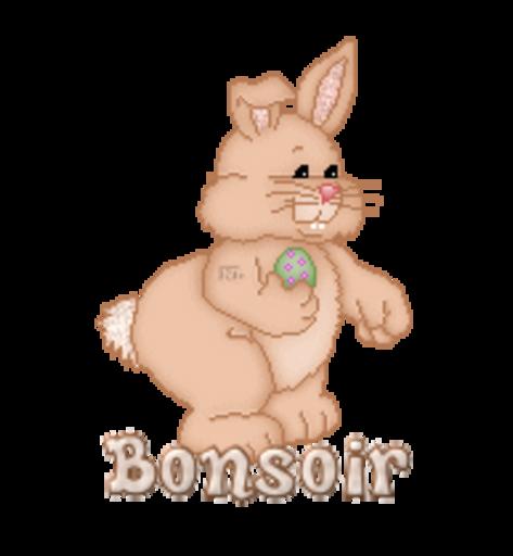 Bonsoir - BunnyWithEgg