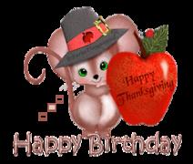 Happy Birthday - ThanksgivingMouse