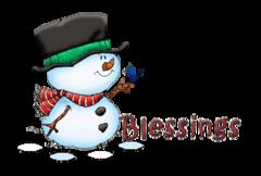 Blessings - Snowman&Bird