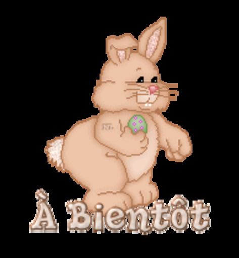 A Bientot - BunnyWithEgg
