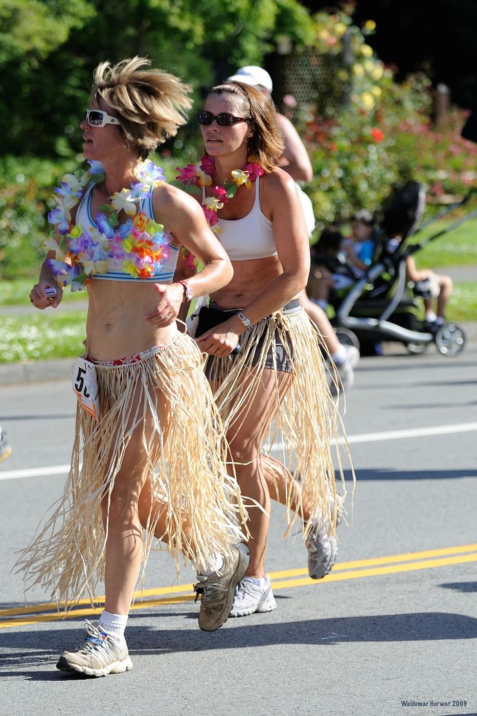 Women in Grass Skirts