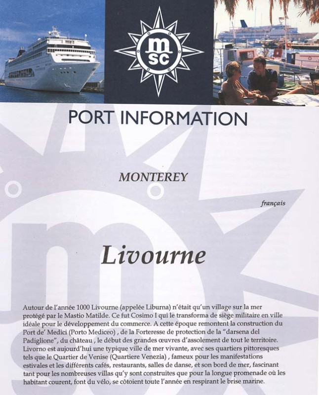 Livorno Port Information [French] Page 1