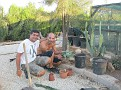 With Nikos,creator of Cyprus cactus and succulent botanical garden
