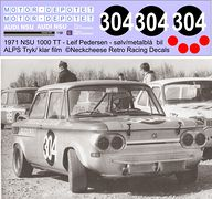 DE-002 NSU 1000 TT Leif Petersen (DK), silver and dark blue car no 304