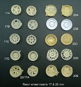 Wheel inserts 17 and 20mm dia