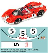 RCA-029 1-24 McLaren M1A #5 red/white car, DKK 60,- / € 8,80 + postage